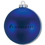 Ellipsoid Flat Custom Christmas Ornaments - Blue