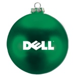 Ellipsoid Flat Custom Christmas Ornaments - Green