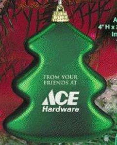 Tree Shape Custom Christmas Ornament - Green