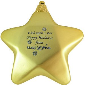 Star Shape Custom Christmas Ornament -  Gold