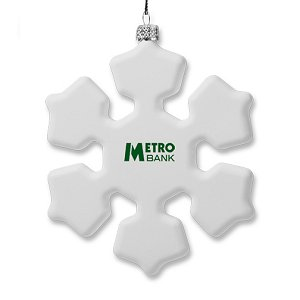 Snowflake Custom Christmas Tree Ornament