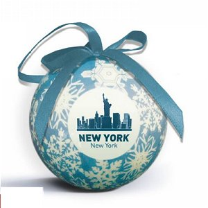 Snowflake Shatterproof Ornament with Logo Imprint - Blue