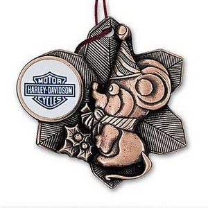 Metal 3D Christmas Mouse Ornament with Color Imprint