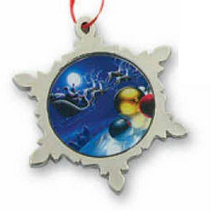 Metal Snowflake Ornament with Custom Photo Art