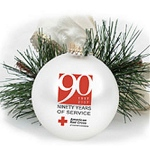 Glass Custom Christmas Ornament with 2 Color Imprint