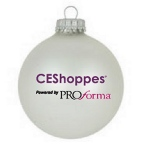 Glass Custom Christmas Ornament with 3 Color Imprint