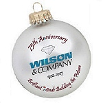 Glass Custom Christmas Ornament with 4 Spot Color Imprint