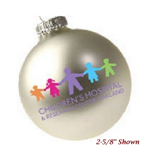 Glass Custom Christmas Ornament with 5 Spot Color Imprint