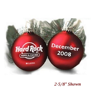 Glass Custom Christmas Ornament with 1 Color Imprint