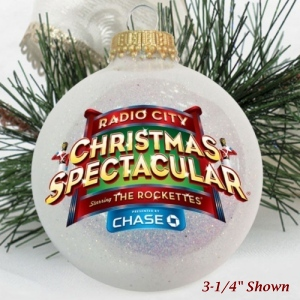 Glass Custom Christmas Ornament with Full Process Color Imprint