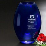 Cobalt Barrel Vase 8-1/2 in.