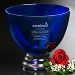 Cobalt Pedestal Bowl 7-1/2 in.