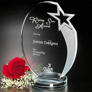 Royal Hand Etched Star Award 7-1/2 in.