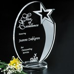 Royal Hand Etched Star Award 9-1/2 in.