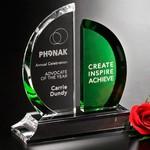 Greenley Emerald and Optical Crystal Award 7in