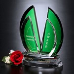 Flight Emerald and Optical Crystal Award 10in