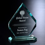Kingsley Jade Crystal Award 8-1/2