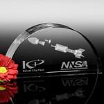 Arch Optical Crystal Award 6-3/4in W