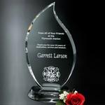 Flame Optical Crystal Award 7 in.