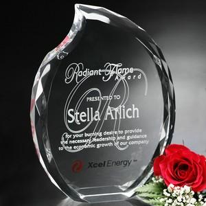 Lambent Flame Optical Crystal Award 8 in.