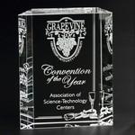 Carlyle Award Optical Crystal Award 6 in.