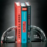 Crystal Diamond Cut Bookends - Pair 4 in.