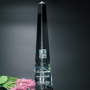 Everest Obelisk Optical Crystal Award 16 in.