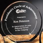 Elite Circle Optical Crystal Award 6 in. Dia.