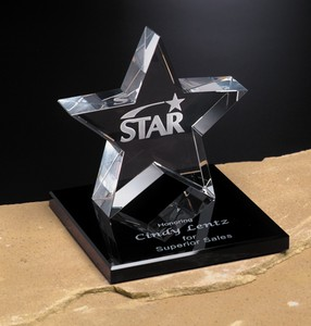 Tapered Star Award on Base 5 in.