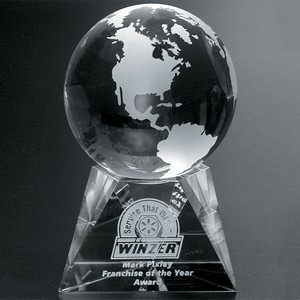 Triad Globe Award 5 in.