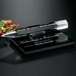 Pencil Award on Black Glass Base 8 in. W