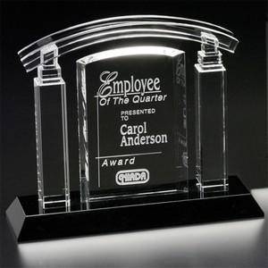 Portico Crystal Award 7-1/2 in.