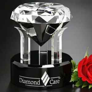 Radiant Diamond Optical Crystal Award 5 in.