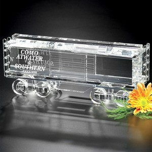 Crystal Boxcar Train 11 in. W