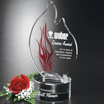 Wildfire Flame Optical Crystal Award 8 in.