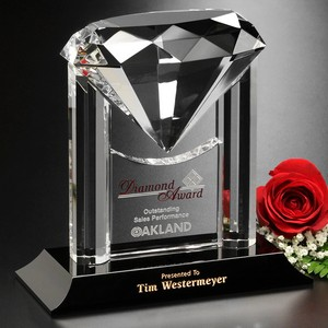 Opulence Award 6-3/4 in. Diamond Theme Optical Crystal