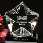 Penta Star Optical Crystal Award 4-1/2 in.
