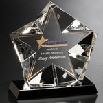 Penta Star Optical Crystal Award5-1/2 in.
