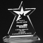 Guardian Star Award 6-1/2 in.  Optical Crystal