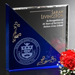 Acclaim Optical Crystal and Blue Crystal Award 5 in.