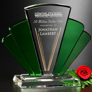 Phantasia Fan Theme Award 8 in.  Optical Crystal