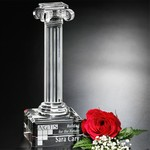 Ionic Column Optical Crystal Award 10 in. H
