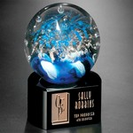 Celebration on Black Base Art Glass Award 5-1/2 in.