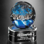 Celebration on Clear Base Art Glass Award 5 in.