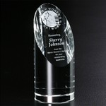 Quantico Cylinder Optical Crystal Award 6-1/2 in.
