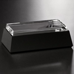 Black and Optical Glass Base - Rectangle