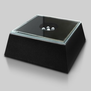 Black Mirrored Lighted Square Base 2-3/8in
