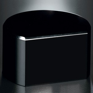 Black Glass Base - Cut Circle 2 H