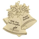 Holiday Bells Golden Holiday Ornament