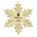 Snowflake Golden Holiday Ornament